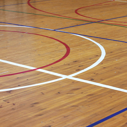 wood floor basketball court